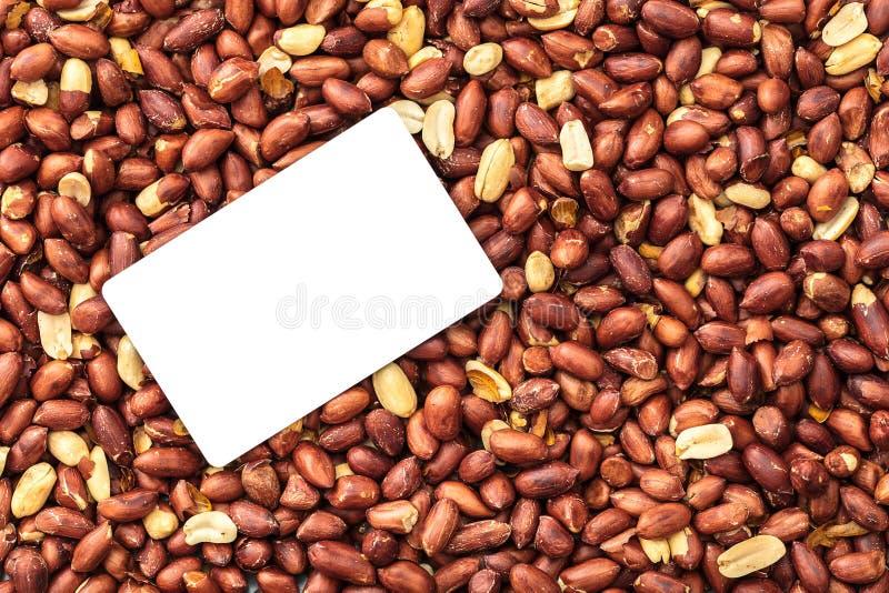 Texture des arachides rôties en gros plan images libres de droits