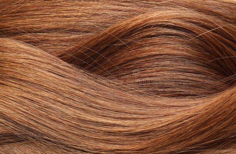 Texture des cheveux rouges sains comme fond photographie stock