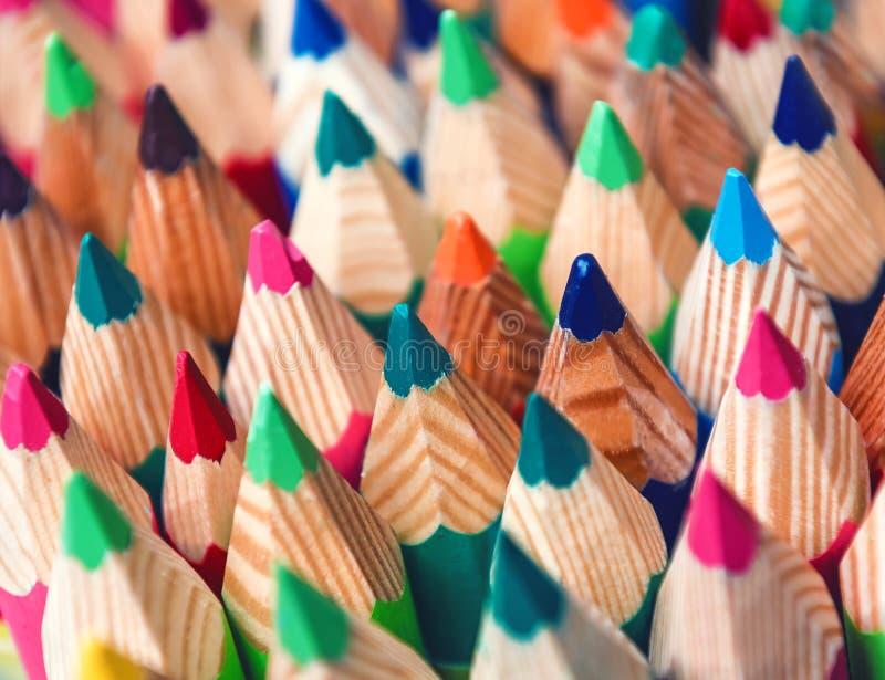 Texture des crayons colorés photo stock