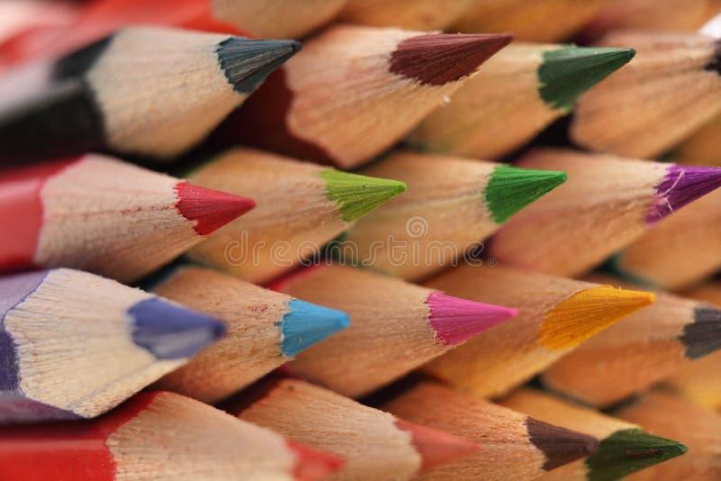 Texture des crayons colorés photos stock