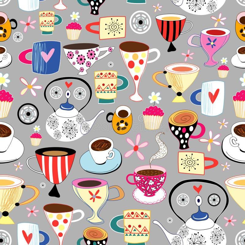Texture des cuvettes et des tasses illustration stock