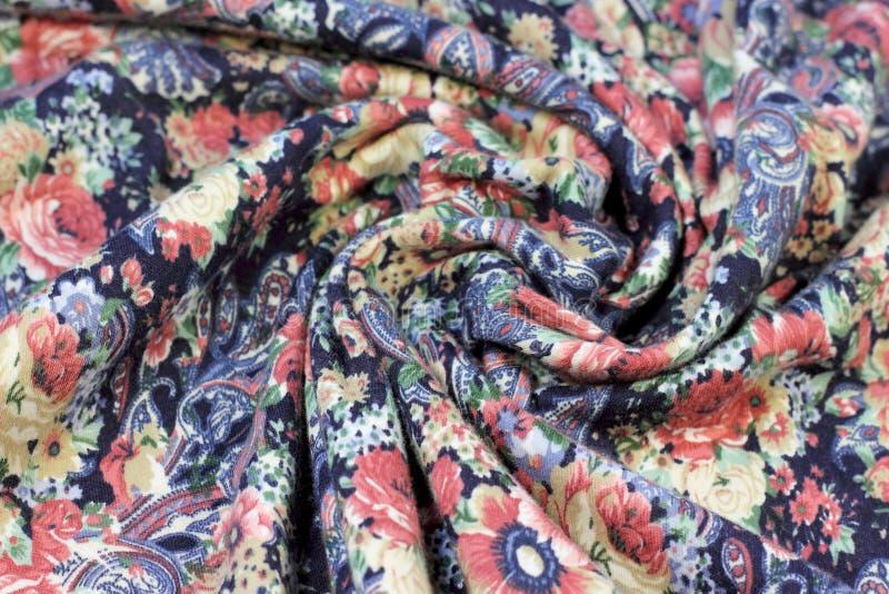 Texture des fleurs de tissu image libre de droits