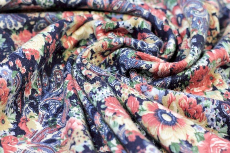 Texture des fleurs de tissu photo stock