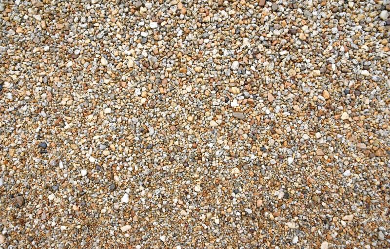 Texture des petites pierres à beaucoup de nuances, fond de pierre de caillou, vue supérieure image libre de droits