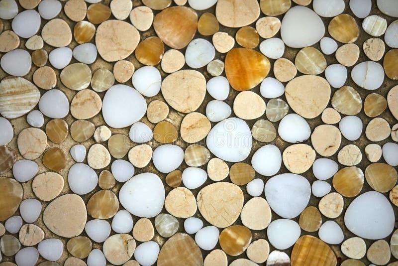 Texture des pierres de mer de blanc aux nuances brun clair image libre de droits
