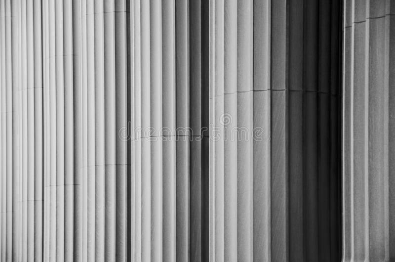 Texture detail of repeating pillars. Black and white texture detail of repeating pillars on Great Dome of the Massachusetts Institute of Technology MIT in royalty free stock photos