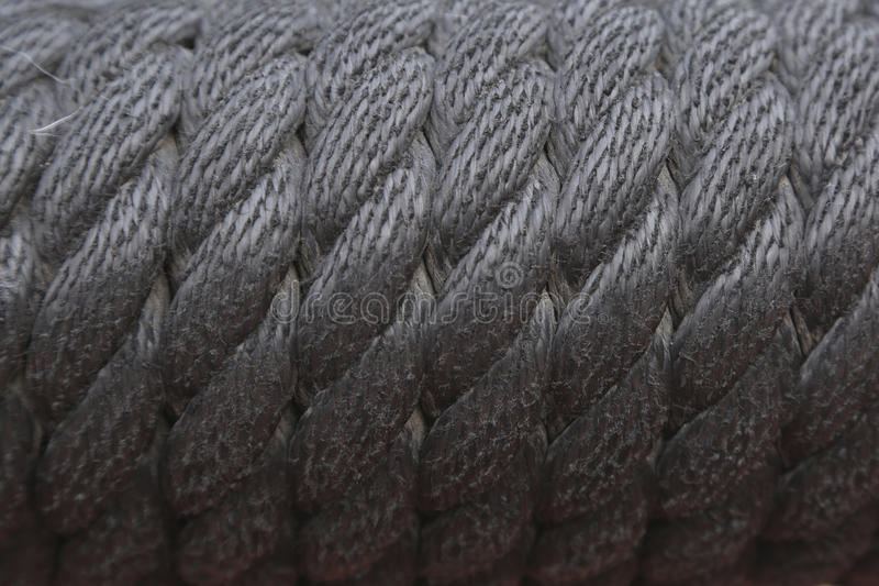 Texture Detailed of black rope royalty free stock photos