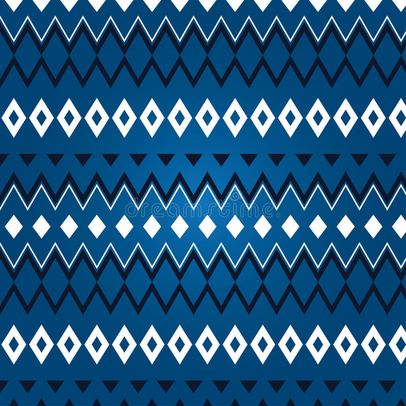 Texture Of Different Rhombus On A Blue Background Stock Photos