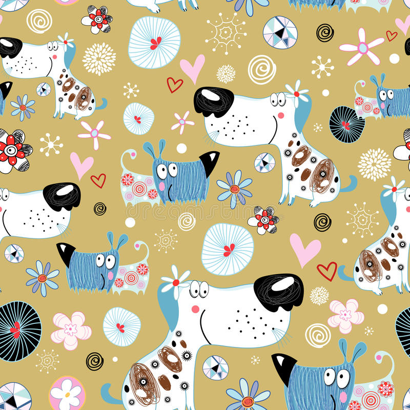 Texture of dog lovers royalty free illustration