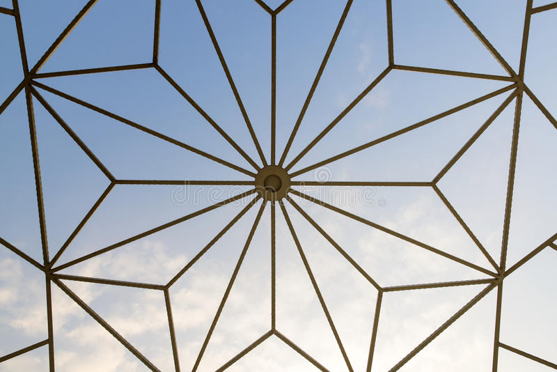 Texture of dome roof. Texture of dome roof on white isolated stock photos