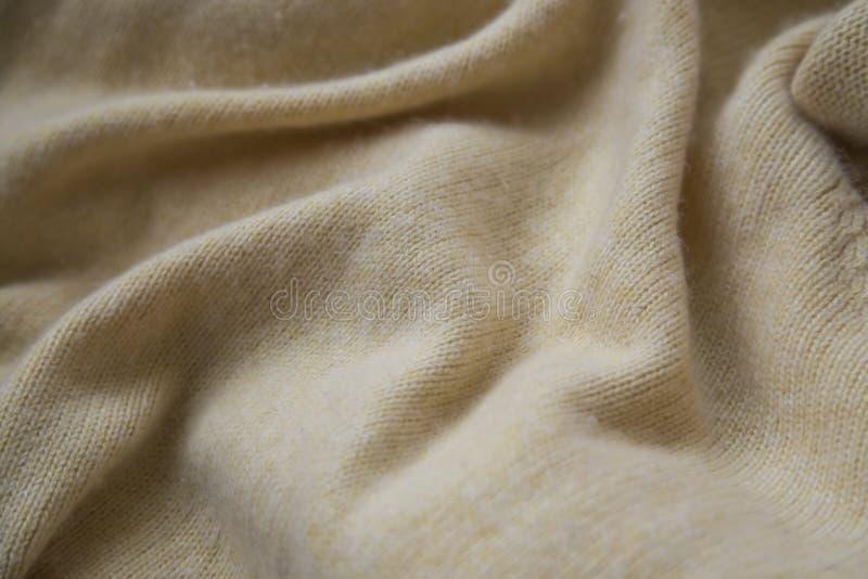Texture douce de cachemire, chandail chaud confortable de cachemire ou texture couvrante photographie stock