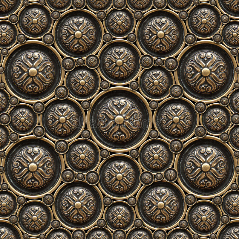 Brass Background with Classic Ornament royalty free stock photography