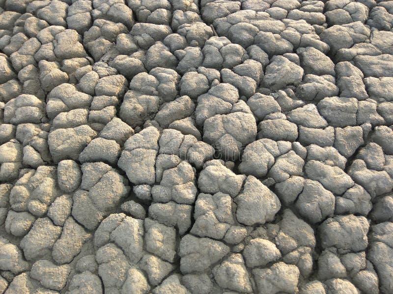 Texture of dry mud near muddy volcano. Texture of grey dry mud near muddy volcano. Place is called `Vulcanii noroiosi - Pâclele mari`in Buzau county, Romania royalty free stock image