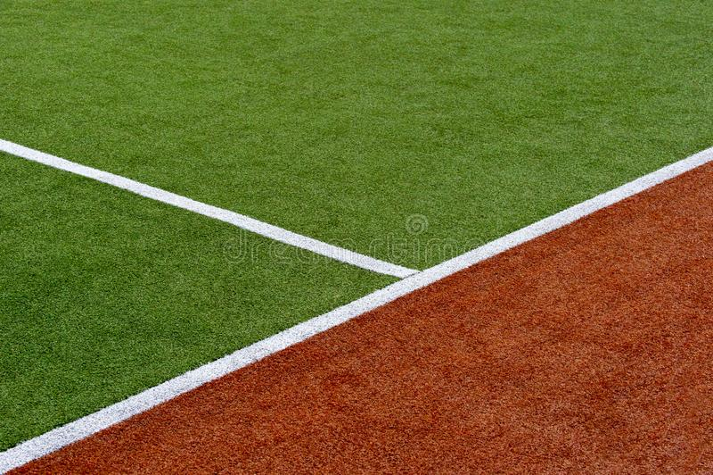 Texture du champ de sports de couverture d'herbe Utilisé dans le tennis, golf, base-ball, hockey de champ, le football, cricket,  images libres de droits