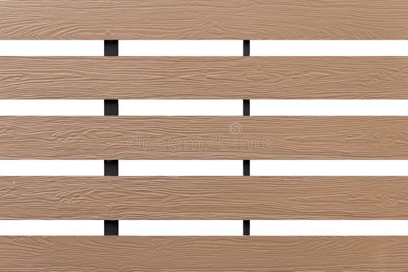 Texture du mur en bois de latte d'isolement sur le fond blanc images libres de droits