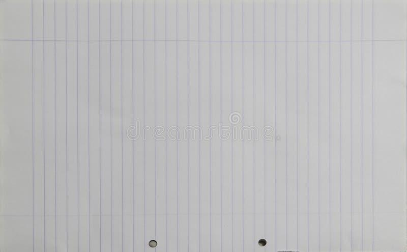 Texture du papier A4 rayée par blanc photographie stock