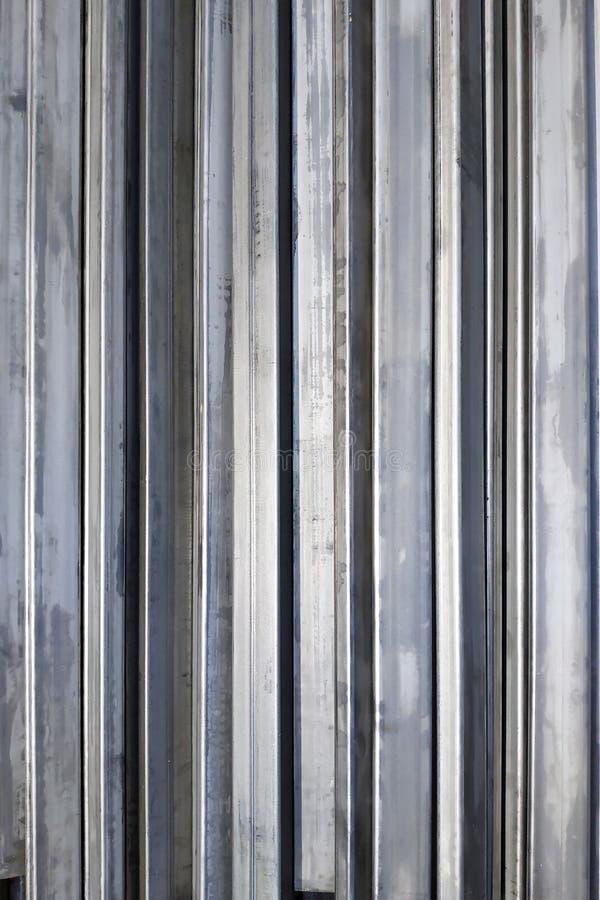 Texture du profil en métal, vue supérieure d'un grand plan photo libre de droits