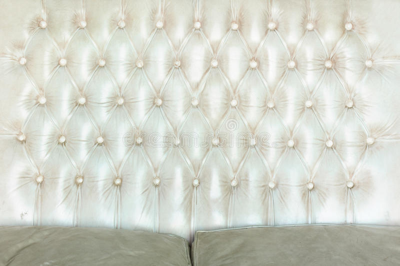 Texture du sofa blanc de cru photographie stock
