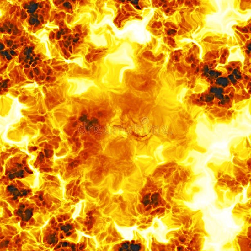 Texture du soleil, des flammes et du fond du feu, brûlure illustration libre de droits