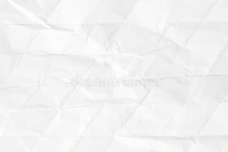 Texture du vieux papier chiffonné d'origami, fond blanc dans le style moderne illustration libre de droits