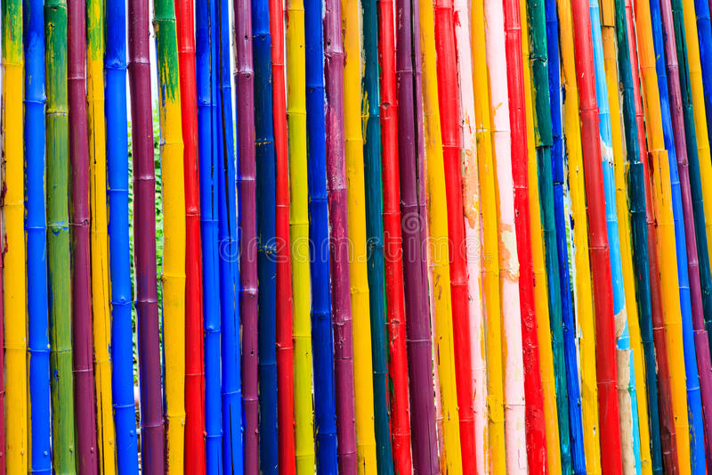 Texture of dyed bamboo sticks. Abstract texture of dyed bamboo sticks stock images