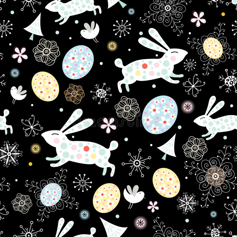 Texture Easter bunny stock illustration