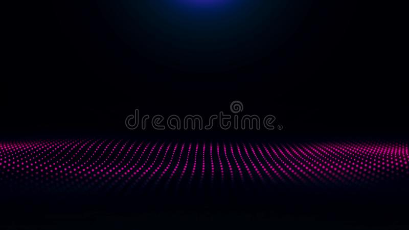 Texture effect background abstract lines movement waves blue color motion. Futuristic Particles Wave Abstract Background vector illustration