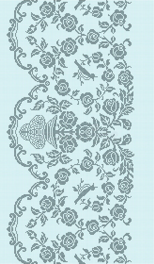 Texture embroidery. A scheme of pattern for embroidery royalty free illustration