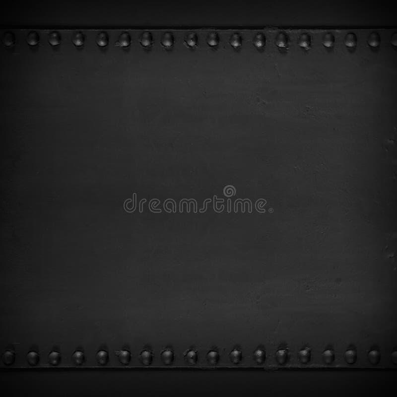 Texture en acier abstraite noire photos stock