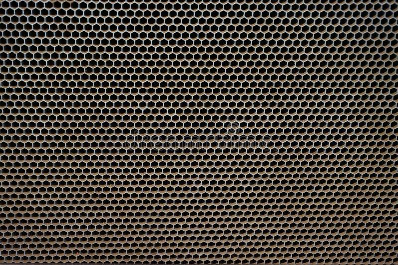 texture en acier d'hexagone photos libres de droits