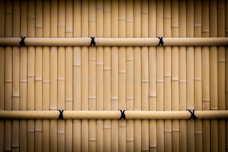 Texture en bambou de barrière photos stock