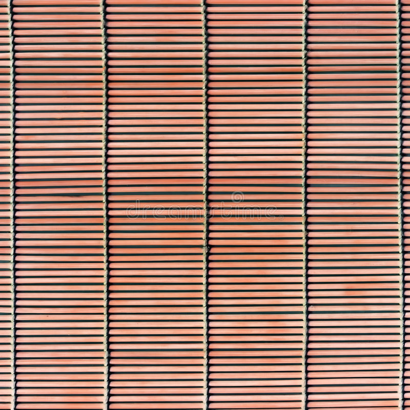 texture en bambou de paille de bâton de couvre-tapis images libres de droits