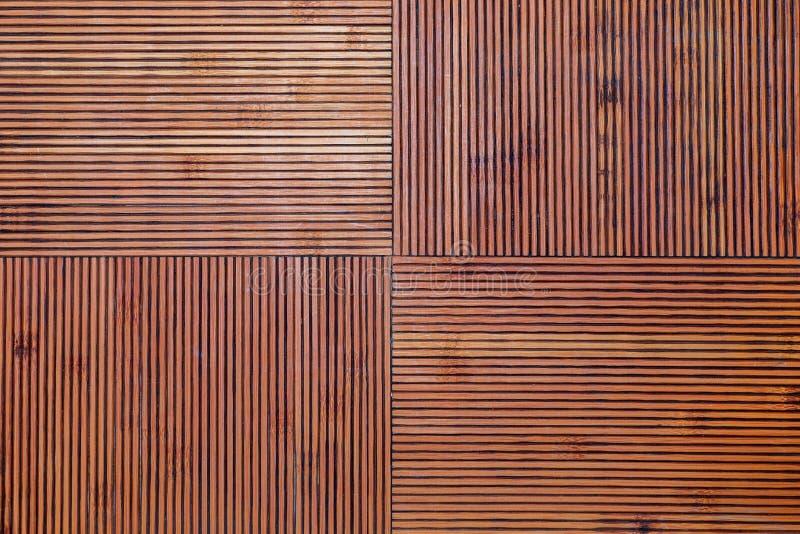 Texture en bambou rustique Lignes horizontales et verticales photos libres de droits