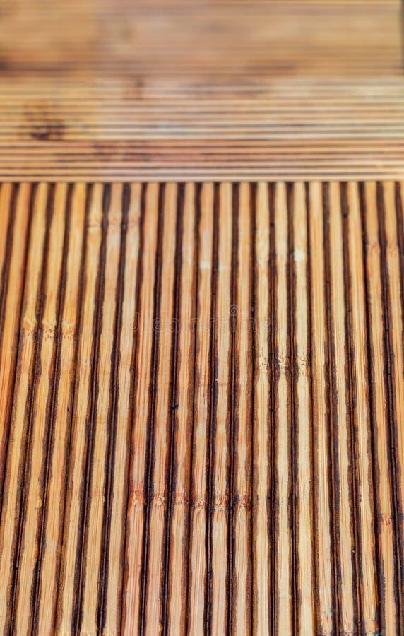 Texture en bambou rustique Lignes horizontales et verticales images stock