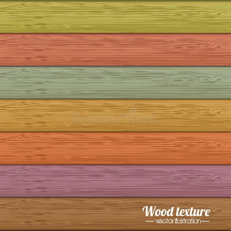 Texture en bois illustration de vecteur