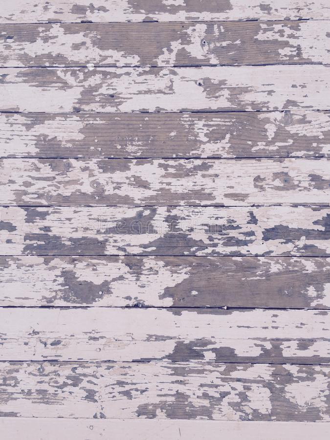 Texture en bois affligée sale de plancher avec la peinture blanche photos stock