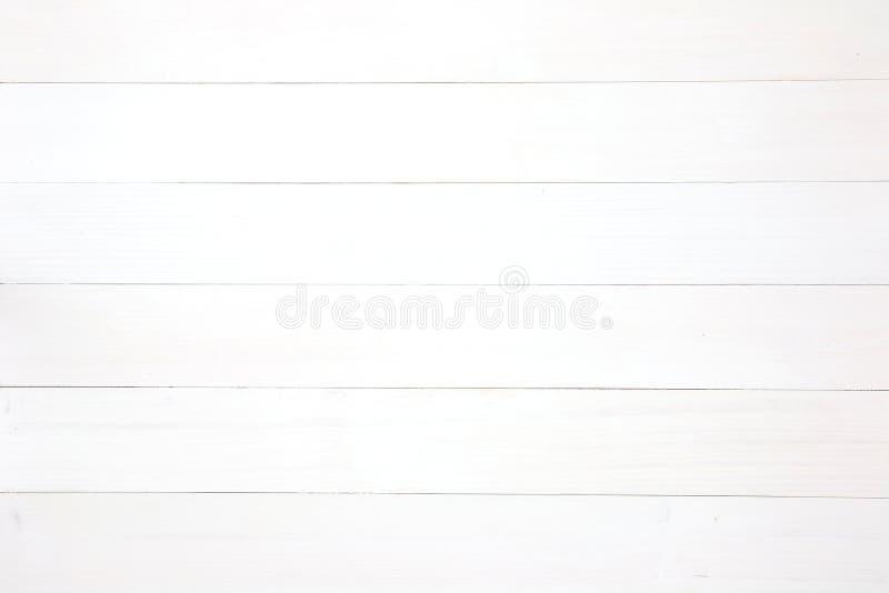 Texture en bois blanche de planches de fond image libre de droits