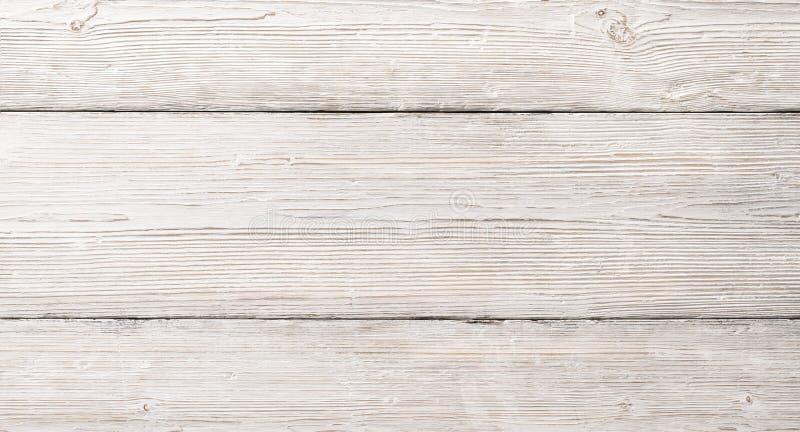 Texture en bois blanche de planches, fond en bois de Tableau photographie stock