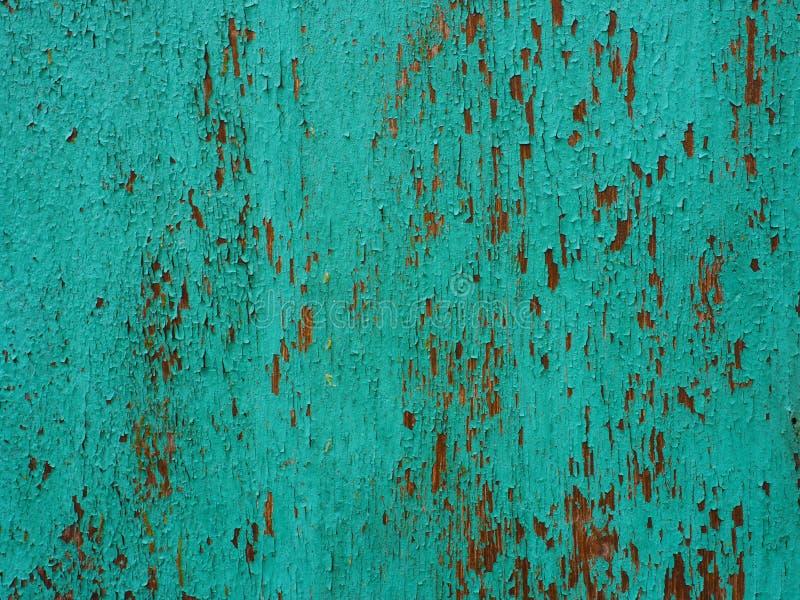 Texture en bois bleu-clair avec des peaux de peinture Peignez l'épluchage images libres de droits