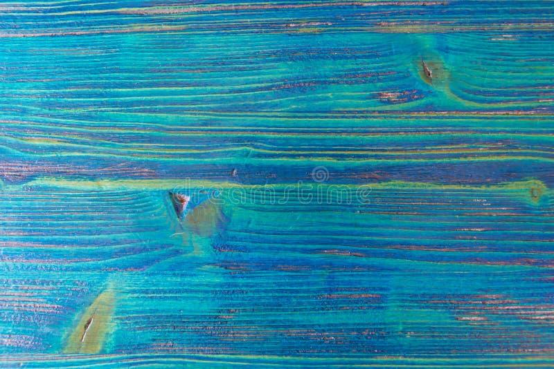 Texture en bois bleue de fond de cru avec des noeuds et des modèles naturels Fond abstrait bleu photo libre de droits