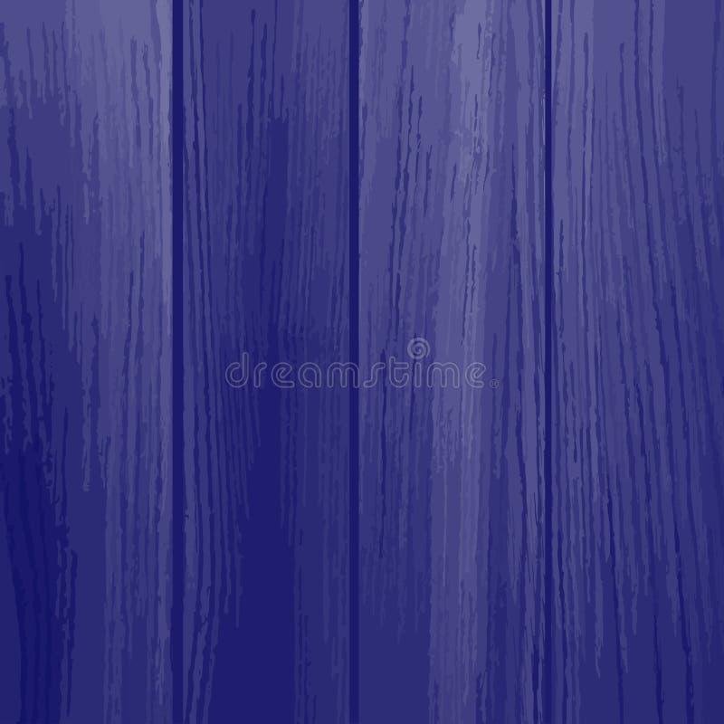 Texture en bois bleue de planches Illustration de vecteur illustration de vecteur