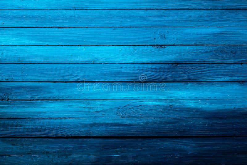 Texture en bois bleue riche colorée de fond photos stock