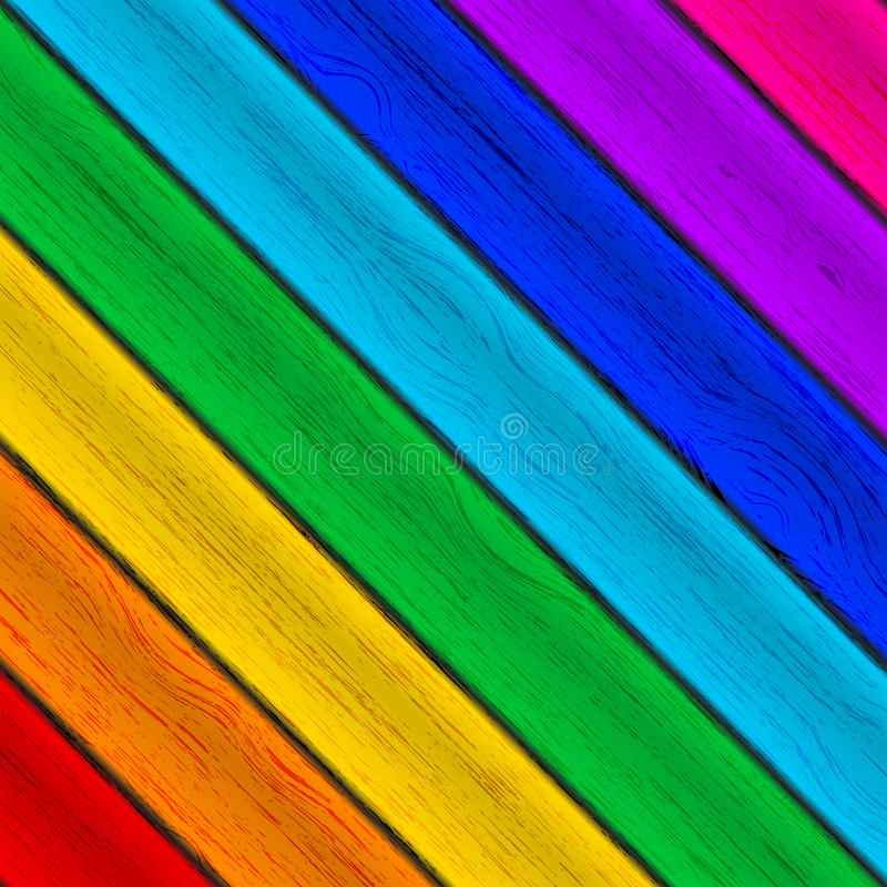 Texture en bois colorée illustration stock