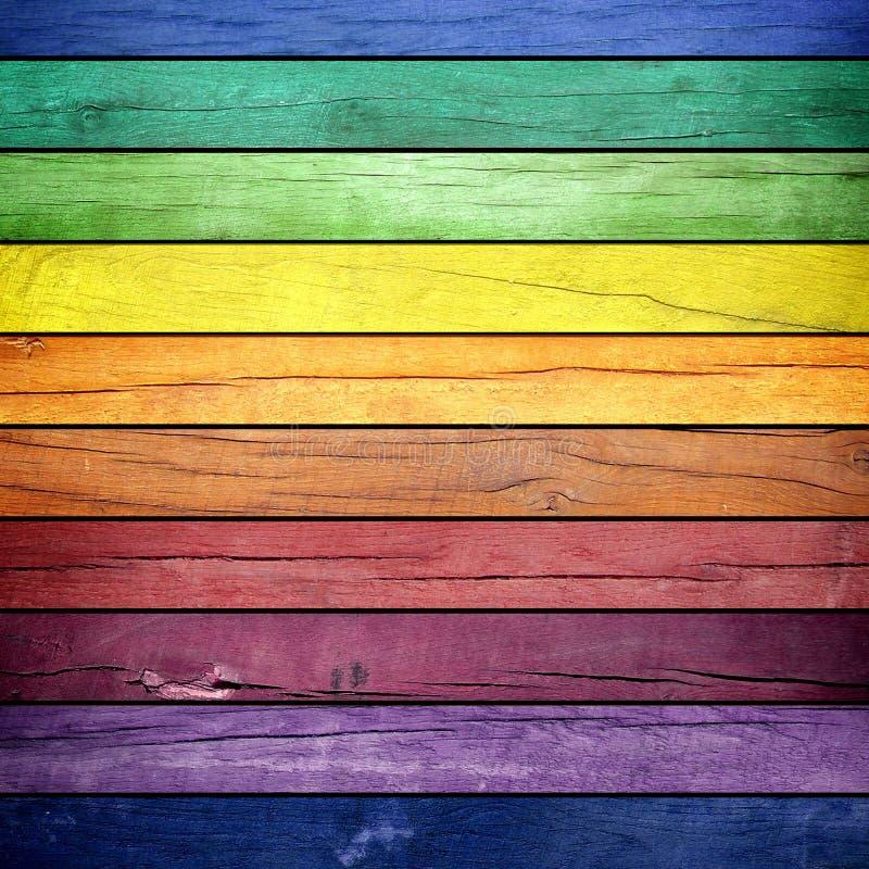 Texture en bois colorée illustration de vecteur