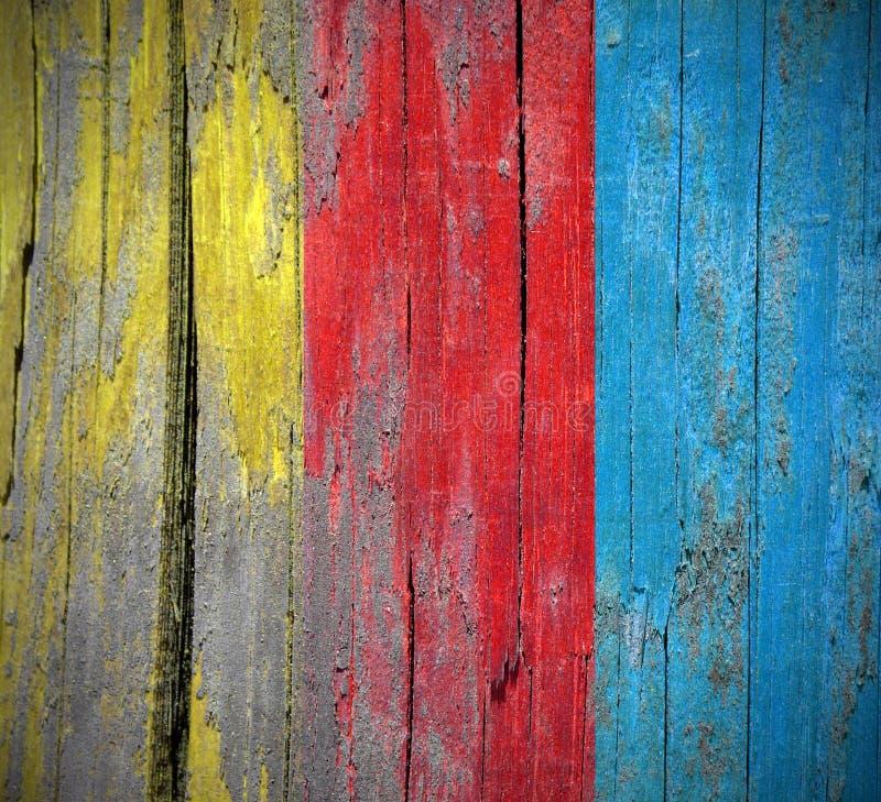 Texture en bois colorée de fond image stock