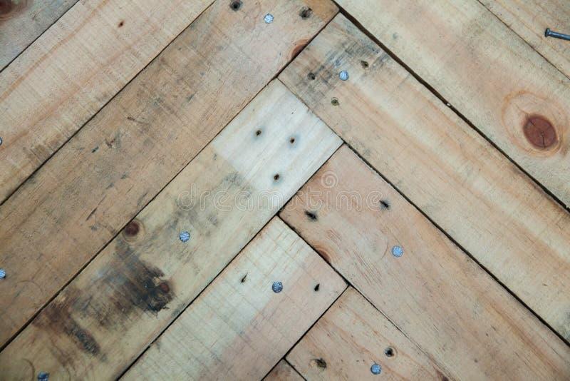 Texture en bois de Fishbone photographie stock libre de droits
