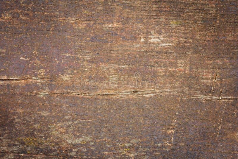 Texture en bois de grain de Brown, vue supérieure de table en bois photographie stock