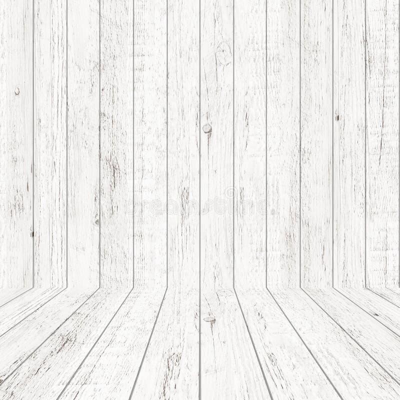 Texture en bois de mod?le de cru dans la vue de perspective pour le fond Fond en bois vide de pi?ce photos libres de droits