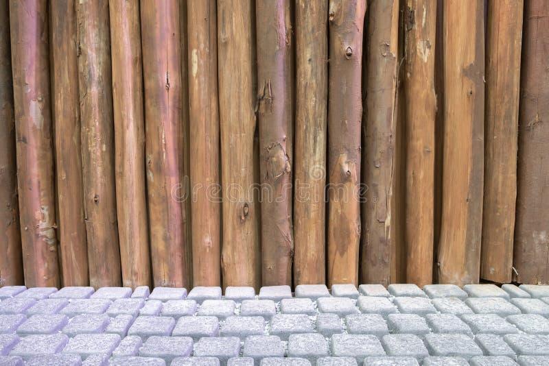 Texture en bois de mur de poteau images stock
