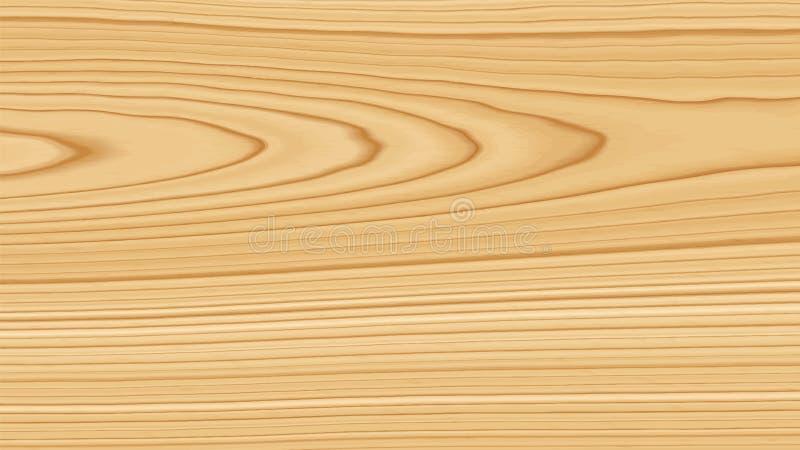 Texture en bois de pin Fond en bois Illustration de vecteur illustration stock